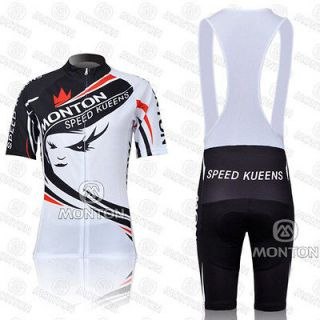 2012 Cycling Bicycle Comfortable Jersey + bib Shorts size M For Women
