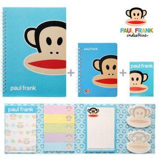 Paul Frank Julius stationery set Vol.2(Blue)_Notebook,Notepad,Sticky
