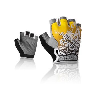 YELLOW NEW COOL CYCLING BIKE BICYCLE HALF FINGER GLOVES GEL SILLCONE