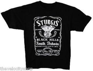 New 2012 Sturgis Rally Bike Week T shirt Biker Motorcycle Black Red