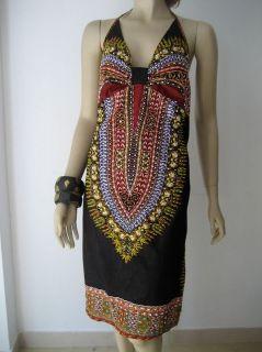 TWO BIRDS Superb Batik Sequined Halter Dress NEW 10 12