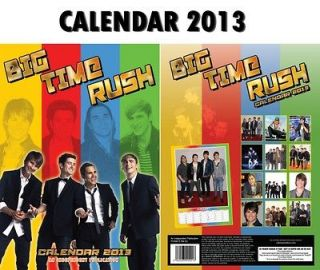 BIG TIME RUSH CALENDAR 2013 BY DREAM + FREE BIG TIME RUSH KEYRING