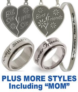 Best Friends Ring   BFF  Best Friends Forever Necklace
