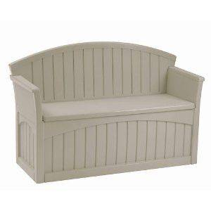 Patio Bench Backyard Storage NEW Garden Benches Outdoor Bins Bin