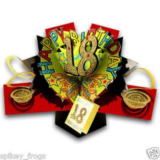 CARD HAPPY 18TH BIRTHDAY 18TH SIGN 3D POP UP GIFT CARD DESIGN