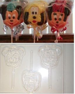 MICKEY MOUSE MINNIE PLUTO HEADS CANDY MOLD MOLDS SOAP