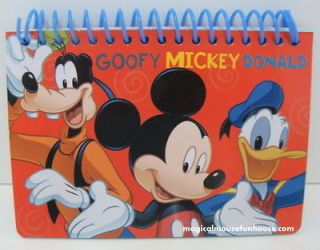 Disney Mickey Spiral Autograph Book   Blue