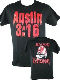 Blood from a Stone Cold Steve Austin Bloody Face T shirt New
