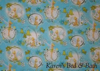 Tinkerbell Fairy Flower Floral Blue Green Girls Curtain Valance NEW