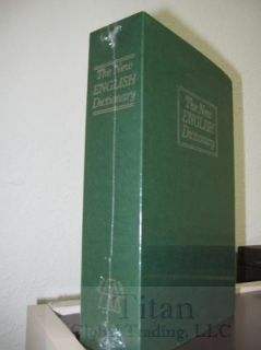 Dictionary Secret Book Hidden Safe With Key Lock Book Safe In Green