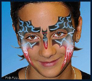 opean Body Art Bat Design Face Paint Stencil Template Airbrush