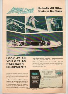 1968 Vintage Ad Aristo Craft 9 Teen Boats Atlanta,Georgi​a