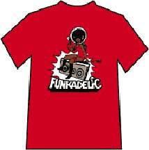 New Funkadelic Boom Box Red Medium T shirt