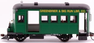 Spectrum On30 Scale Train Rail Bus DCC Equipped Greenbrier & Big Run