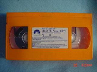 Blues Clues BLUES BIG PAJAMA PARTY 1999 vhs