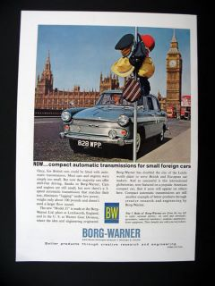 Borg Warner Automatic Transmission British Cars 1962 Ad