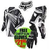 180 UNDERTOW 30 PANT & SMALL JERSEY FREE GLOVES DIRTBIKE ATV BMX GEAR