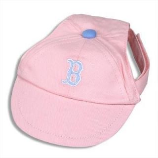 DOG BASEBALL CAP   BOSTON RED SOX PINK HAT   MLB XS, S, OR M/L