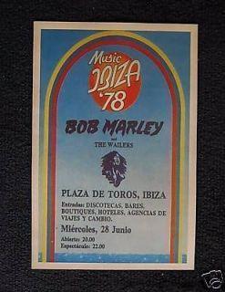 Bob Marley poster 1978 Ibiza Spain Plaza De Toros