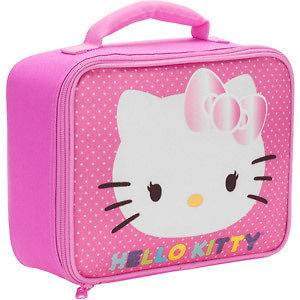 Hello Kitty insulated Lunch Box Bag Pink Polkadots Kids Girls
