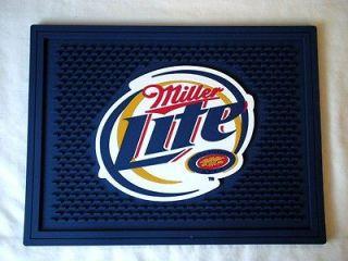 Miller Lite Beer Heavy Duty Rubber Bar Spill Mat NEW