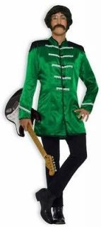 New Mens Costume Green British Beatles Retro 60s Outfit