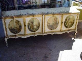 LOUIS XV ITALIAN FLORENTINE HOLLYWOOD REGENCY GOLD GILDED BUFFET