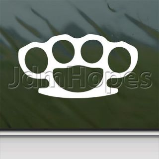 BRASS KNUCKLES Decal Car Truck Bumper Window Sticker
