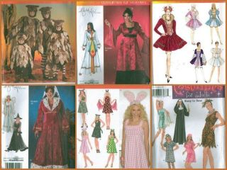 Simplicity Adult Halloween Costume Sewing Pattern Includes Plus Size