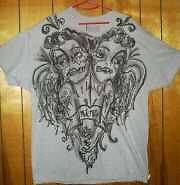 Freehanded Airbrushed tattoo design xl t shirt