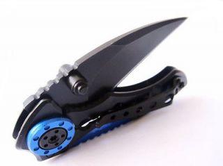 Black MR 1 Lock Pocket Stainless Steel Saber Folding Knife 4