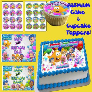 Bubble Guppies edible Cake & Cupcake toppers picture decorations sugar