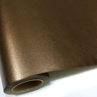 Gold Brown BULK Gift Ream Roll Wrapping Paper 65ft 20M