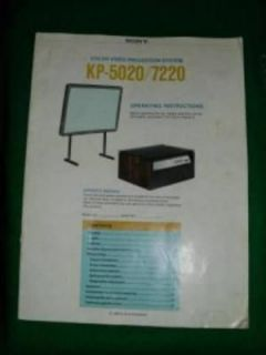 VINTAGE SONY KP 7220 KP 5020 TELEVISION OWNERS MANUAL BIG SCREEN TV