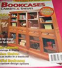 Bookcases Cabinets SHELVES Magazine Step by Step plans to build