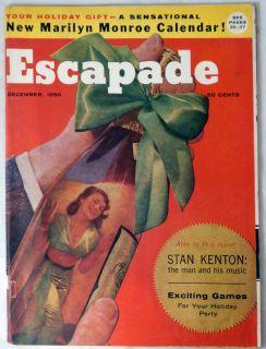 escapade magazine december 1956 marilyn monroe calendar pin up