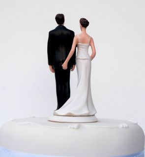 THE LOVE PINCH Bride & Groom Funny Wedding Cake Topper/Sculpture