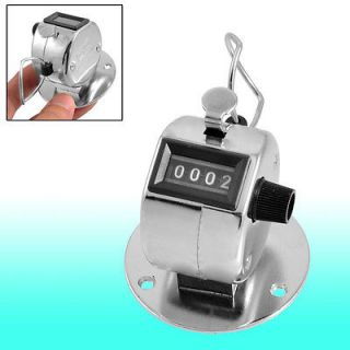 Golf Pitch Count 4 Digit Clicker Hand Held Tally Counter Silver Tone