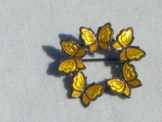 Vtg MEKA Sterling DENMARK Butterfly Brooch Pin Jewelry