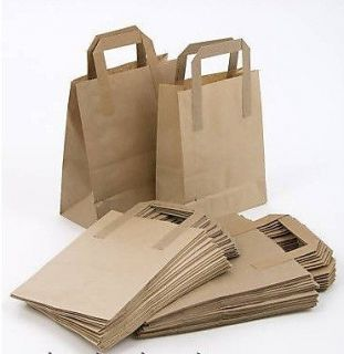75 Brown SOS Paper Bags 25 Each Small Medium Large