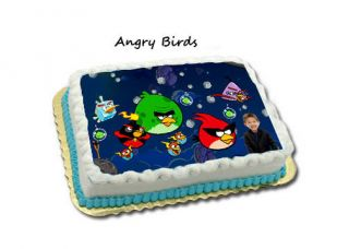 Coolest angry birds cake birthday party ideas angry birds birthday cake on angry birds edible frosting birthday cake icing image sheet video game voltagebd Images