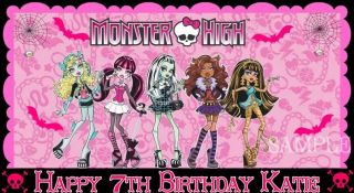 MONSTER HIGH #4 FROSTING SHEET EDIBLE CAKE TOPPER IMAGE DECORATIONS