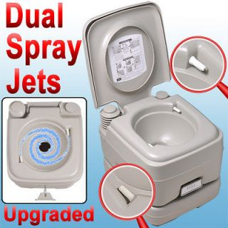Portable Toilet 2.8 Gallon Boat RV Camping Dual Spray Travel Outdoor