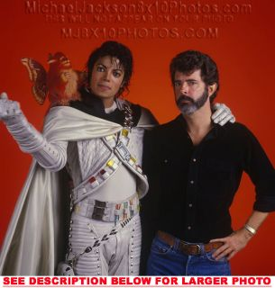 MICHAEL JACKSON CAPTAIN EO with GLUCAS 1xRARE8x10 PHOTO