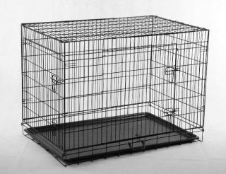 48 Pet Folding Dog Cat Crate Cage Kennel w/ABS Tray LC