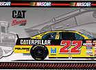 CAT Ward Burton NASCAR Beanbag Bear Window Cling NWT
