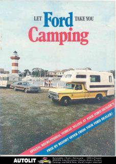 1973 Ford Pickup Camper Travel Trailer Brochure