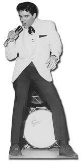 ELVIS PRESLEY WHITE JACKET LIFESIZE CARDBOARD CUTOUT
