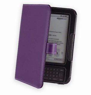 Cover Up Leather Case for Kindle Keyboard   Purple