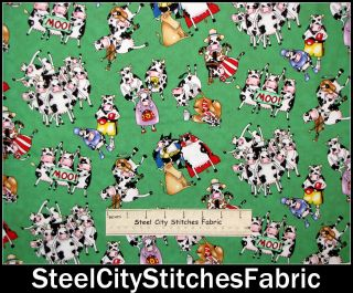 Moo Cow Humor Super Hero Boxer Sheriff Elizabeth Studio Green Cotton